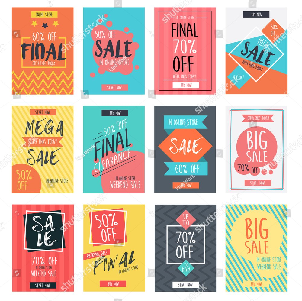 Business flyer or brochure collection with big discount offers. | EZ Canvas