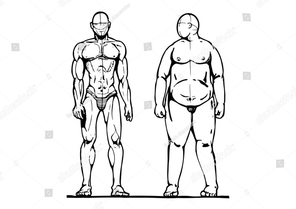 An Image Of An Overweight Man And Woman