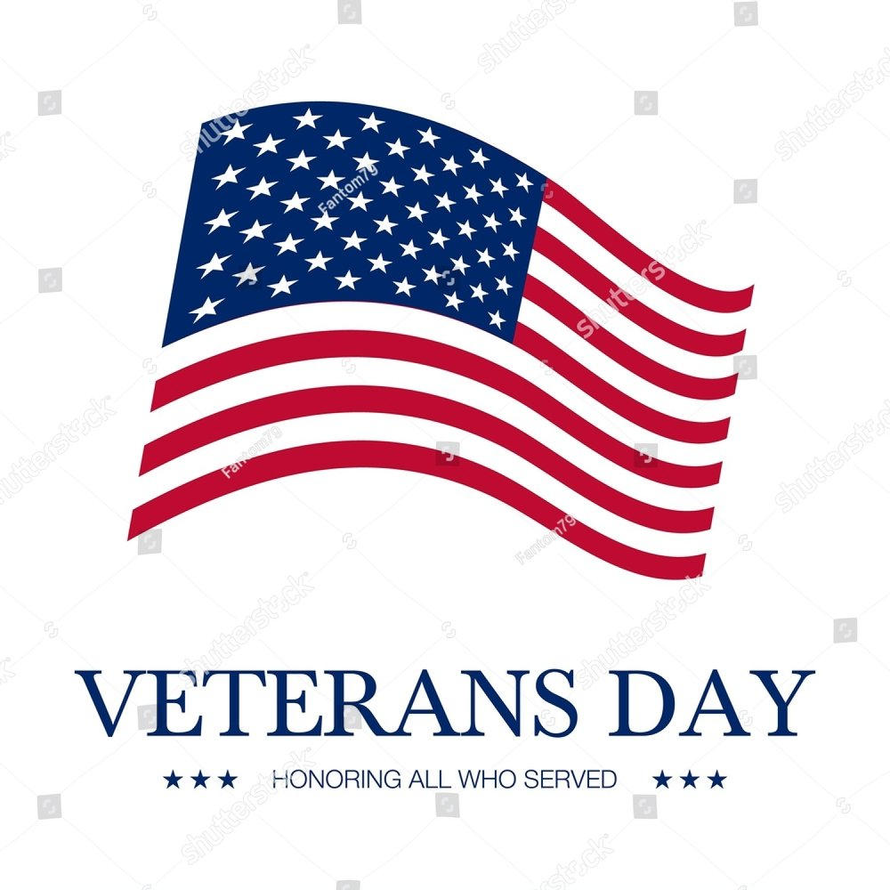 Veterans Day Vector Banner Created In Flat Styleterans Day
