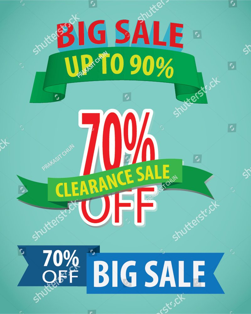 Sale discount up to 50% - vector banner concept illustration. Special offer  abstract advertising promotion creative layout. Graphic design element.