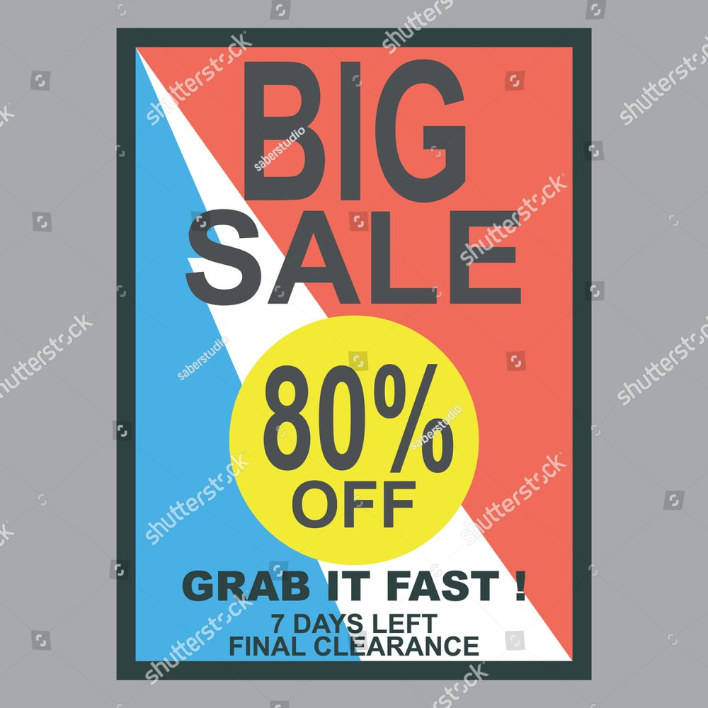 Special Discount template for sale banner poster flyer shop online store |  EZ Canvas
