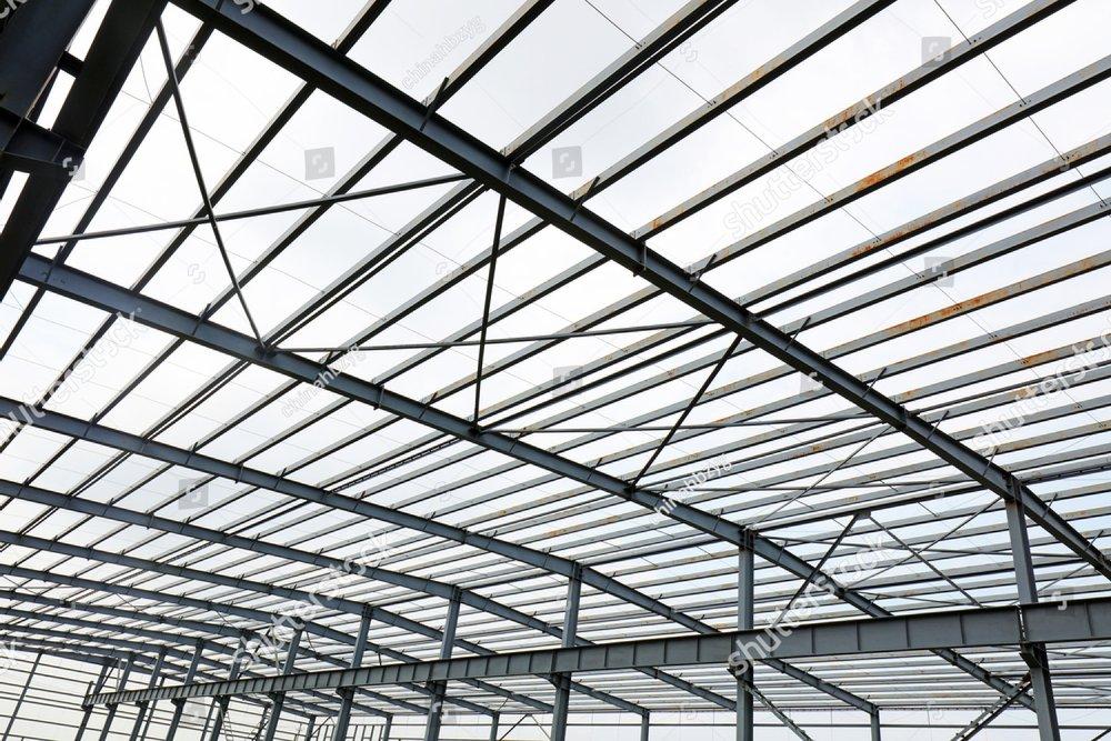 steel girder truss of factory ez canvas Metal Beam Side View