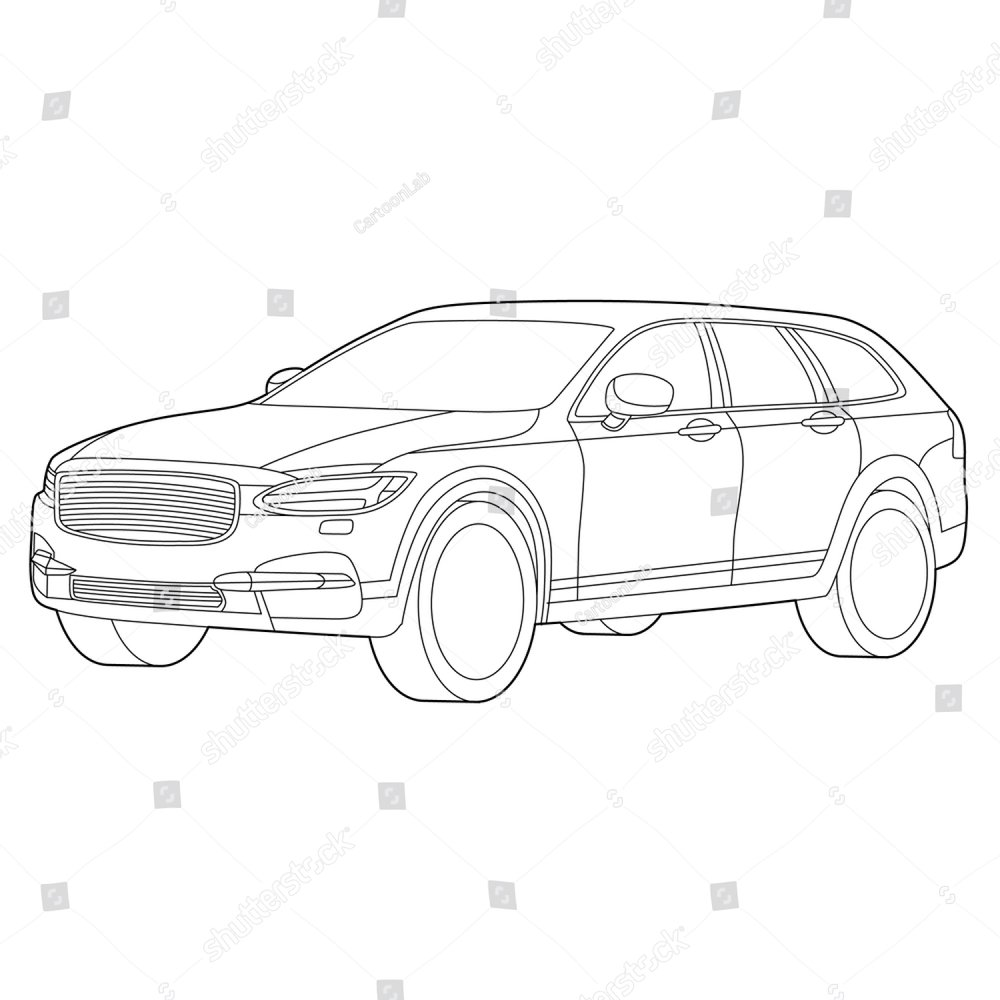 luxury car vector grey ez canvas Fiat L