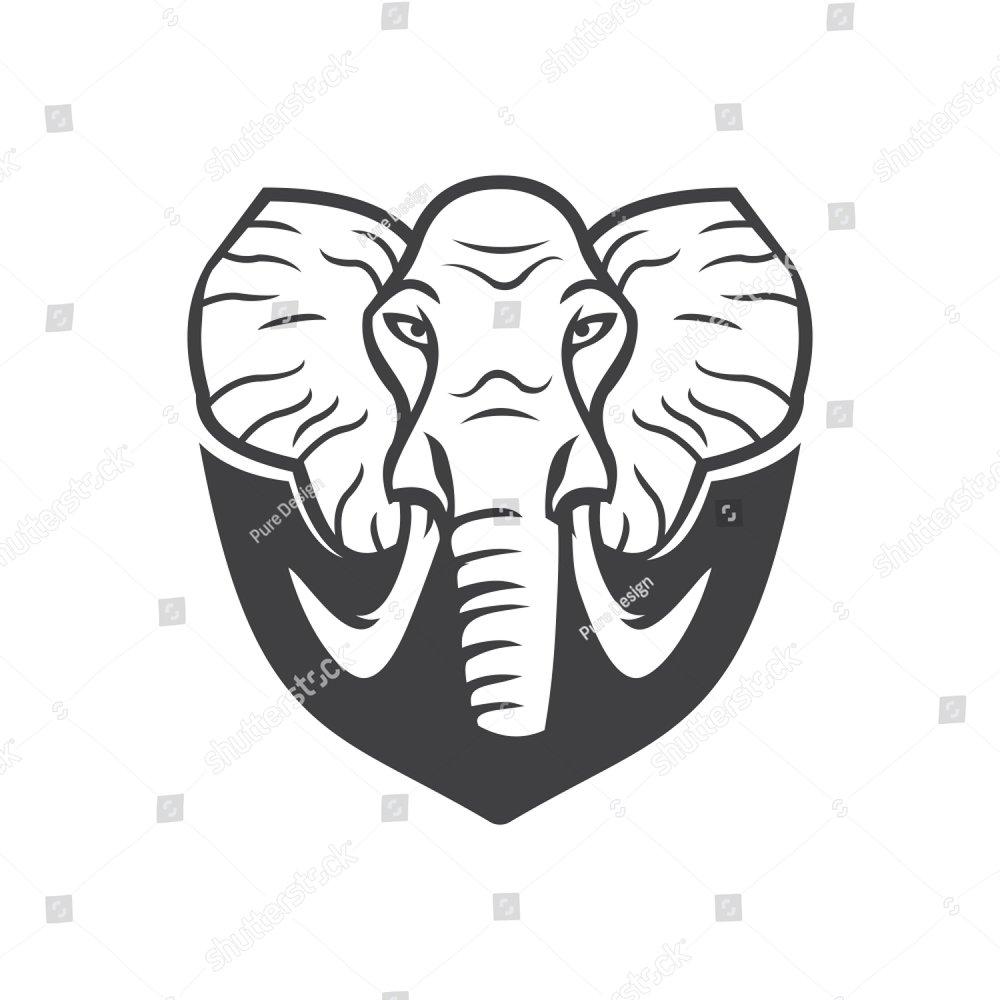 Elephant Head logo | EZ Canvas