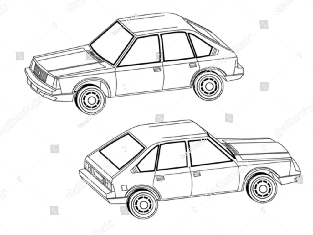 retro cars icons vintage vector ez canvas Fiat 1500 Front Wheel Drive