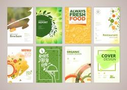 set restaurant menu brochure flyer design のベクター画像素材