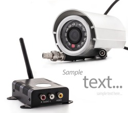Isolated wireless surveillance camera with receiver