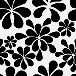 Abstract retro vintage seamless pattern in black and white