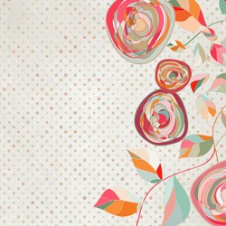 ?intage flower template, floral background. And also includes EPS 8 vector