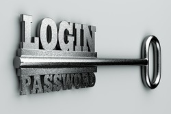 "a single key with two words ""login"" and ""password"" as a concept"