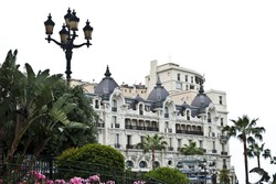 Lofty view of Hotel de Paris in Monaco.