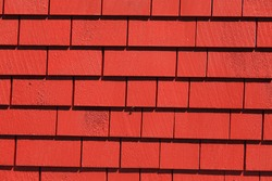 Red Wooden tiles wall for background