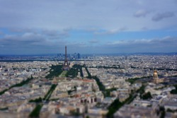 paris tilt shift effect