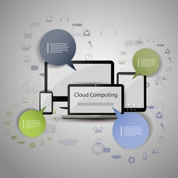 Cloud Computing, Internet of Things, Home Automation, Smart City Concept