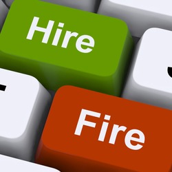 Hire Fire Keys Showing Human Resources Or Recruitment