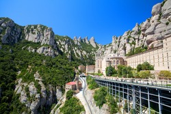 Panorama of the Monastery de Montserrat (Spain)