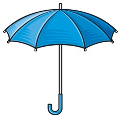 open blue umbrella