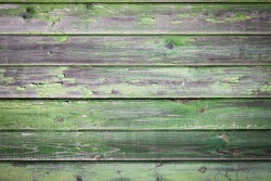 Green old painted wooden background