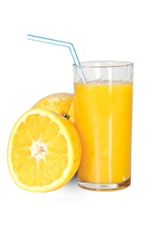 Glass with fresh made Orange Juice