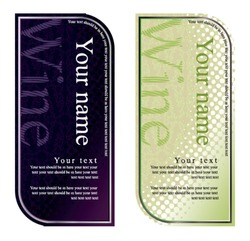 vector wine label, black and white