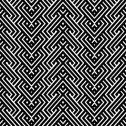 An elegant black and white, vector pattern