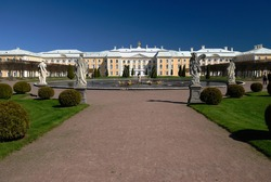 The Peterhof or Summer Palace in St Petersburg Russia