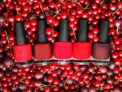Nail polish - beauty salon cosmetics background, summer colors