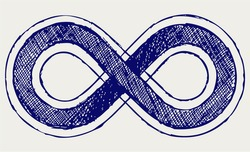 Infinity symbol. Doodle style