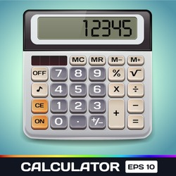 Realistic Vector Electronic Calculator