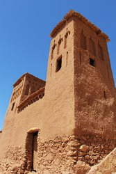 Morocco: The clay kasbah of Ait Benhaddou, a 'fortified city' or ksar, in the caravan route between the Sahara and Marrakech.