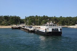 A ferry in Door County in Wisconsin