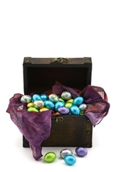 Box Full of Chocolate Eggs