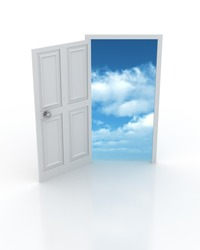 Sky in the Door - entrance to the future