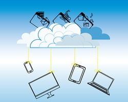 Cloud computing concept raster version