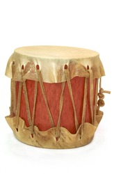homemade toy musical indian drum