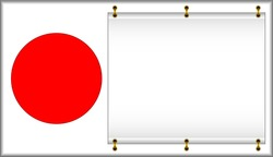 Flag of Japan. On a flag the banner is located.