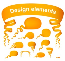 Set of vector speech bubbles, design elements