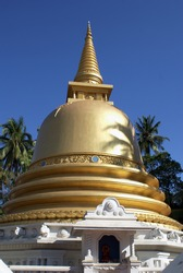 Golden stupa in Badulla, Sri Lanka