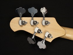 Bass Guitar head stock back with keys