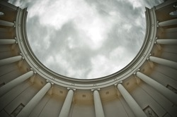 colonnade -  fish eye lens