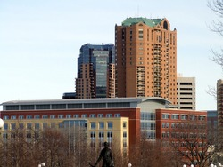 Big buildings in St. Paul, taken from the capitol building