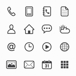 Theme Line Icon set