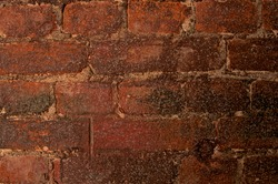 Background of Aged Red Brick closeup