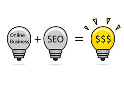 illustration of SEO idea
