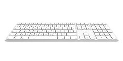 Computer keyboard isolated on white background.