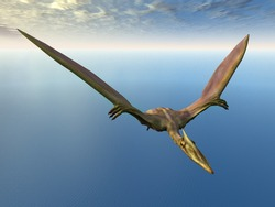 Flying Dinosaur Quetzalcoatlus Computer generated 3D illustration