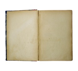 An old closed book on white background