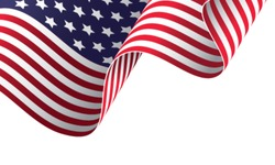 American banner vector illustration