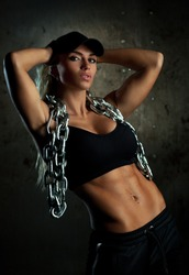 Strong fitness woman