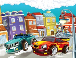 Vehicles horizontal illustrations